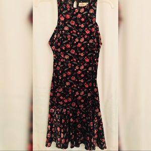 Floral Velvet Dress.